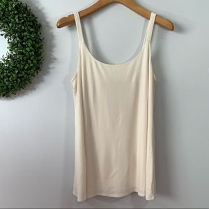 EILEEN FISHER . Lined Tank Top 100% Silk  . M